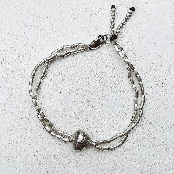 """MY HEART, MY LOVE"" HILL TRIBE SILVER BRACELET"
