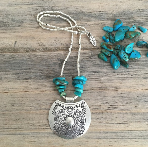 TURQUOISE SUN NECKLACE