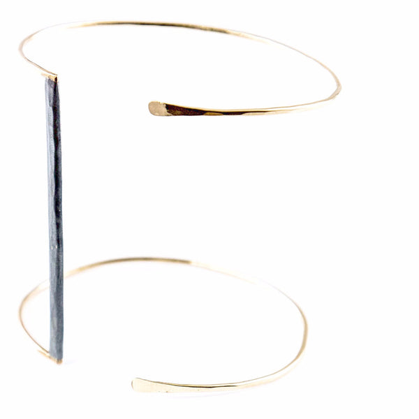 silver and gold bracelet - Bar and Gold
