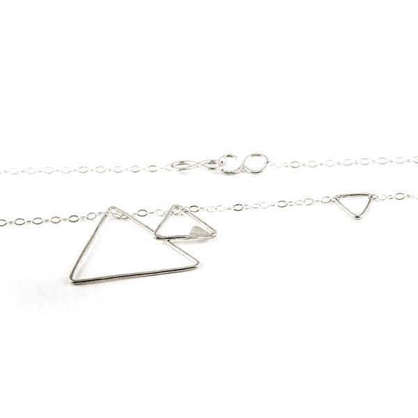 silver Necklace - Triangles