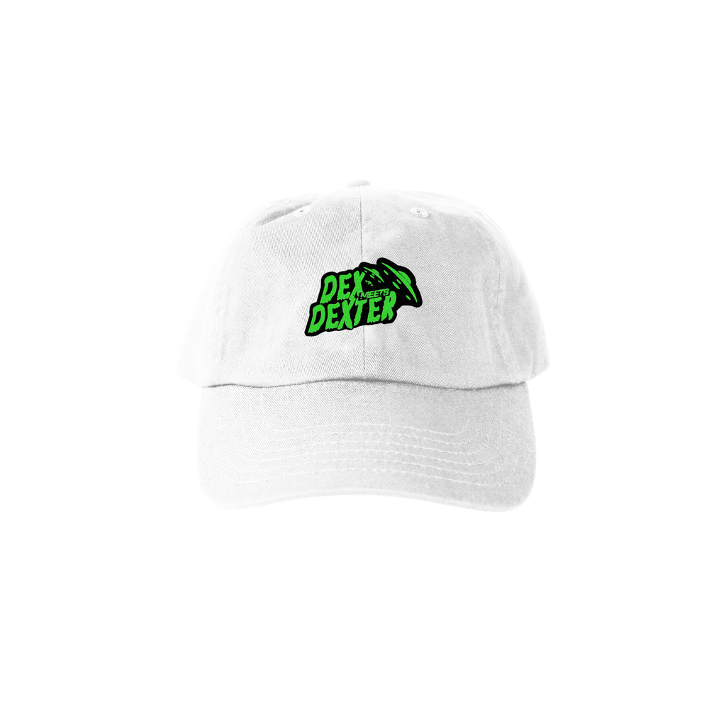 Dex Meet Dexter Dad Hat - White