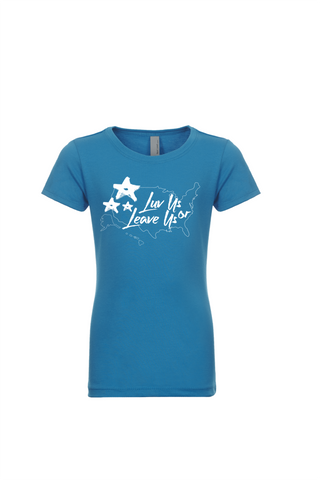 Girls Youth LuvUS Stars Tee Multiple Colors Age 3- 16