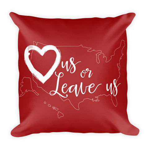 LuvUS Classic Logo Red Pillow