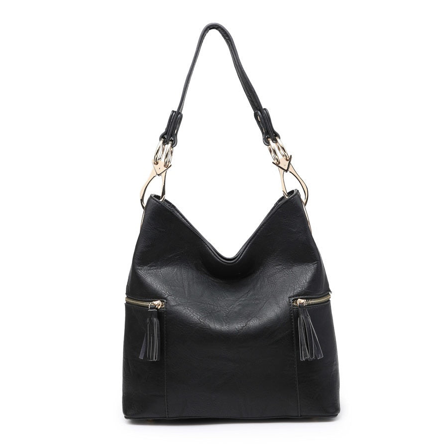 Rochelle Hobo Bag- Black