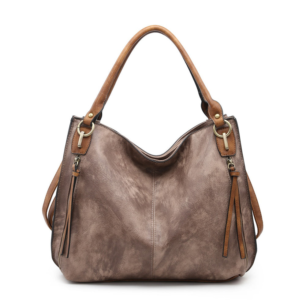 Connar Distressed Tote- Espresso