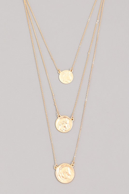 THRICE COIN NECKLACE