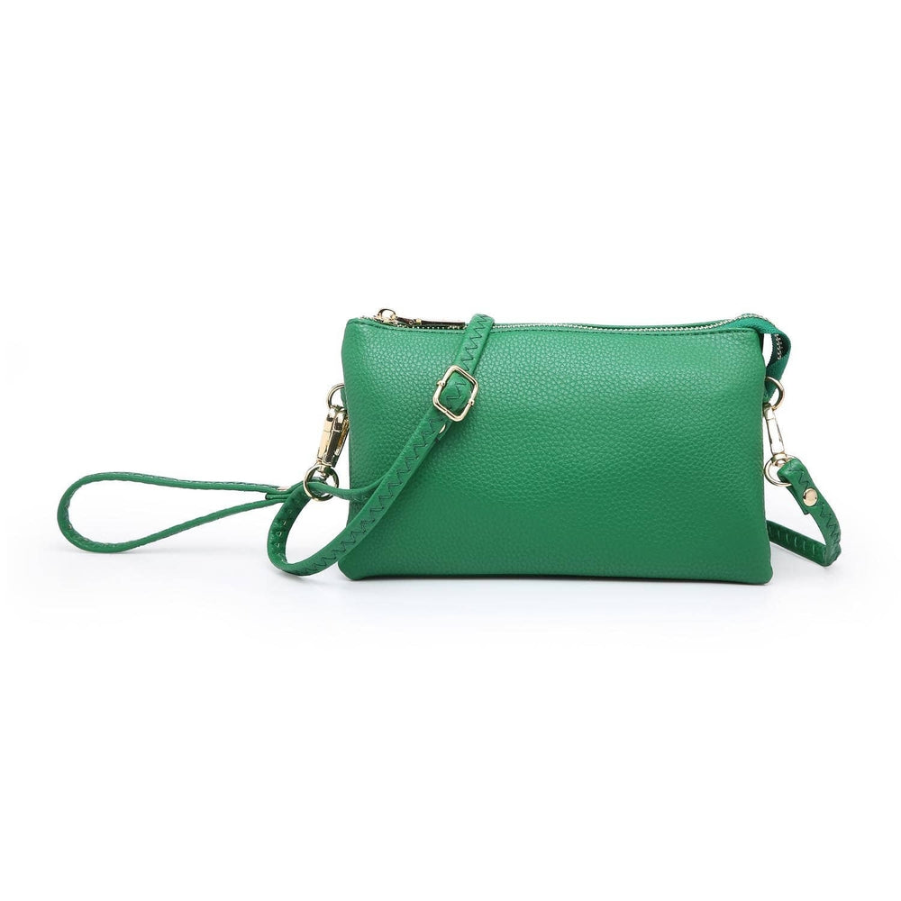 Riley Wristlet Crossbody- Emerald