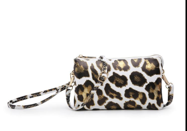 Miley Compartment Crossbody- White Gold