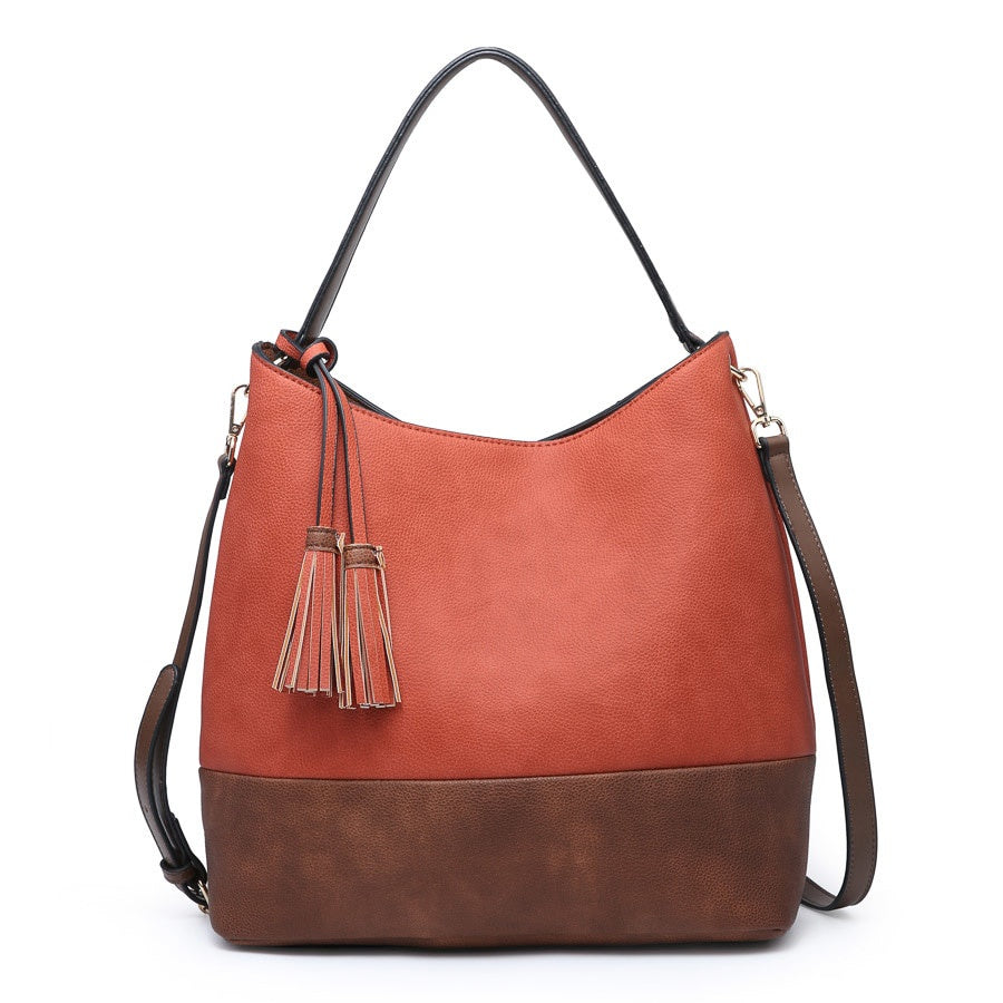 Ava Hobo Bag- Burnt Orange