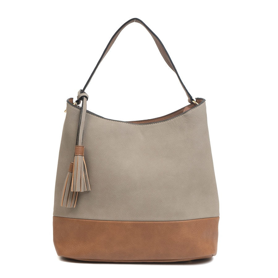 Ava Hobo Bag- Light Stone
