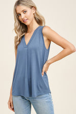 Katrina Sleeveless Top - Dusty Teal