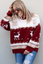 Christmas Reindeer Sweater- Red