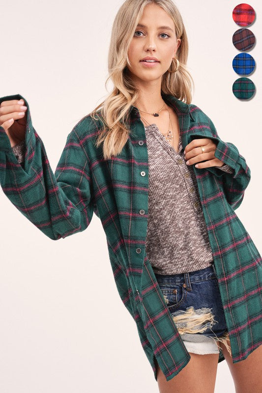 American Girl Plaid Top