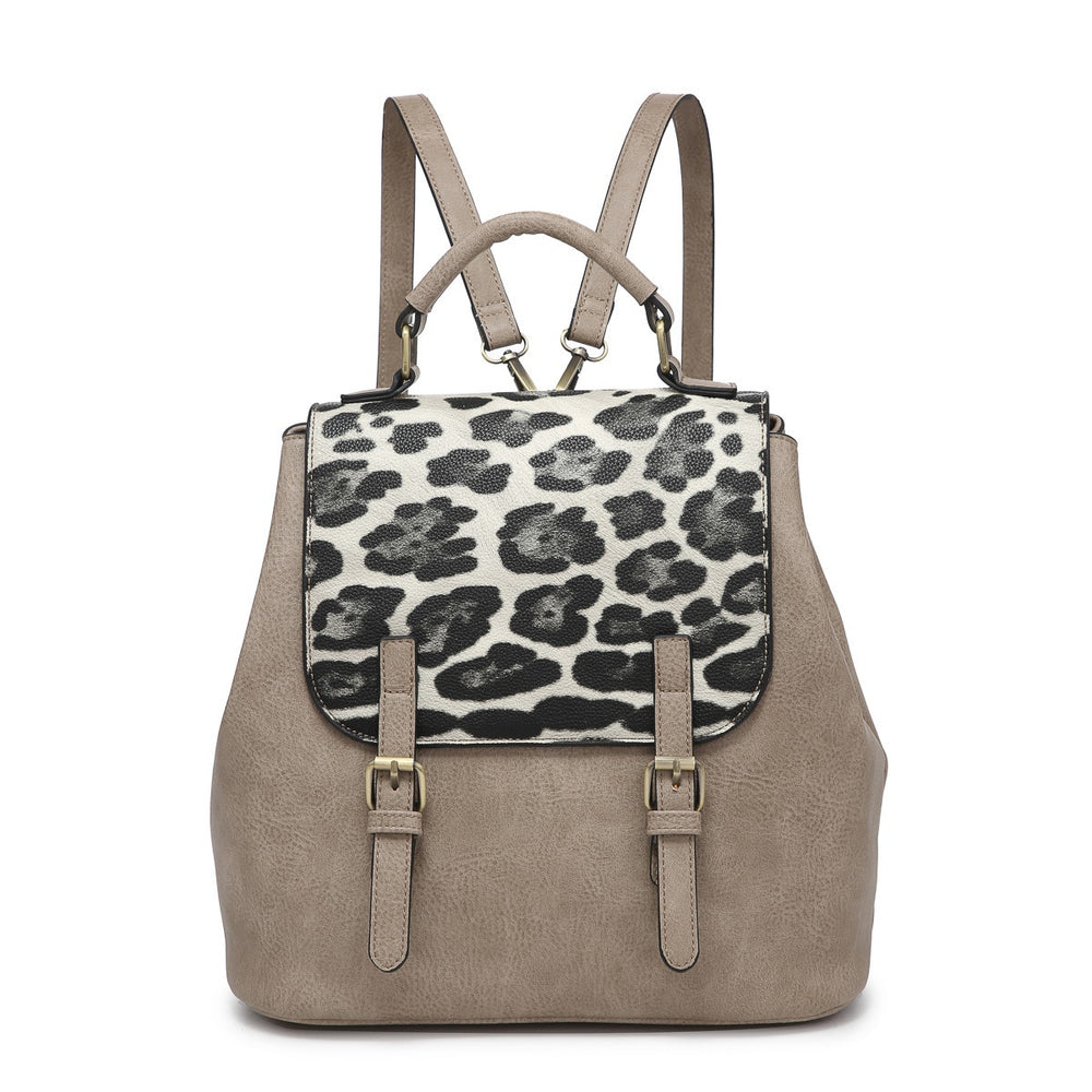 Brooks Convertible Backpack- Stone Leopard