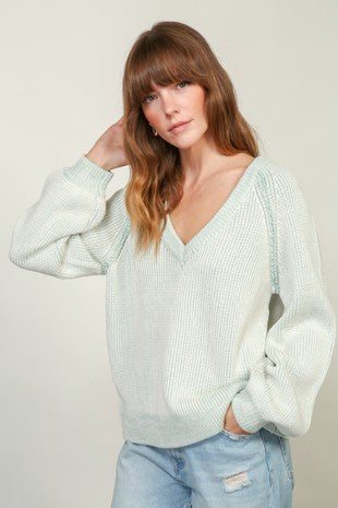 Camila Sweater- Mint