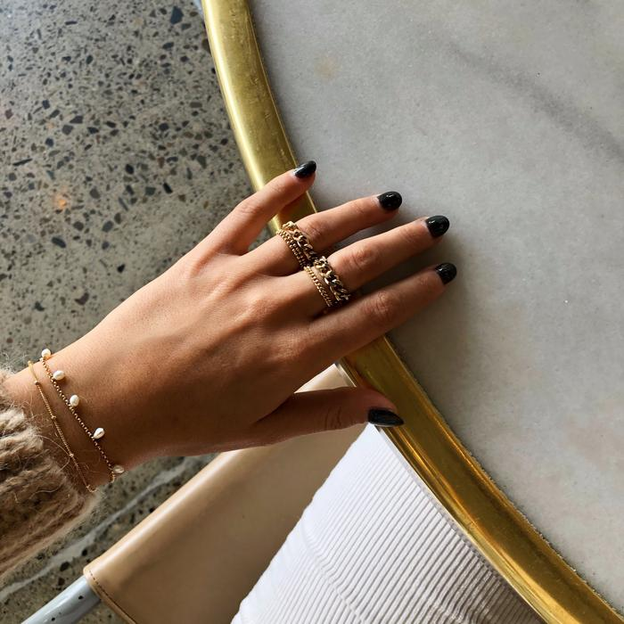 Gold Elliot Chain Ring