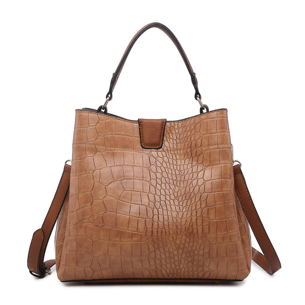 Tati Hobo Bag- Croco Brown