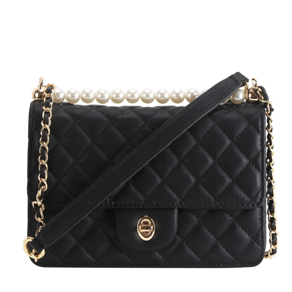 Quilted Handbag- Black