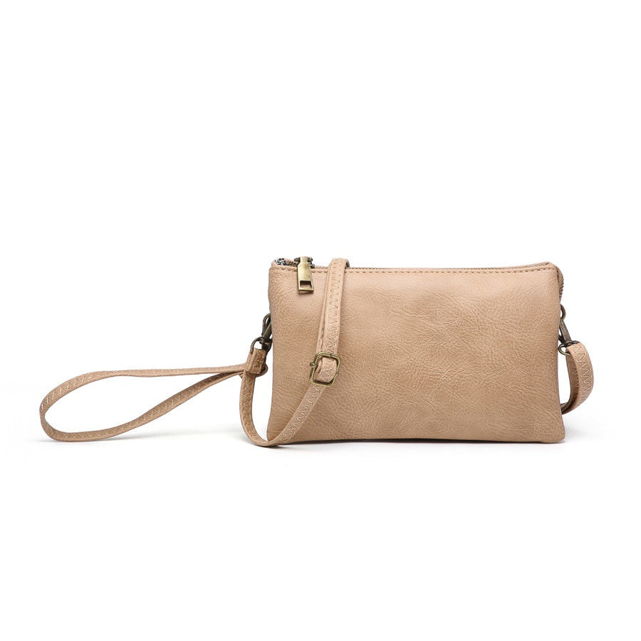 Riley Wristlet Crossbody-Mocha