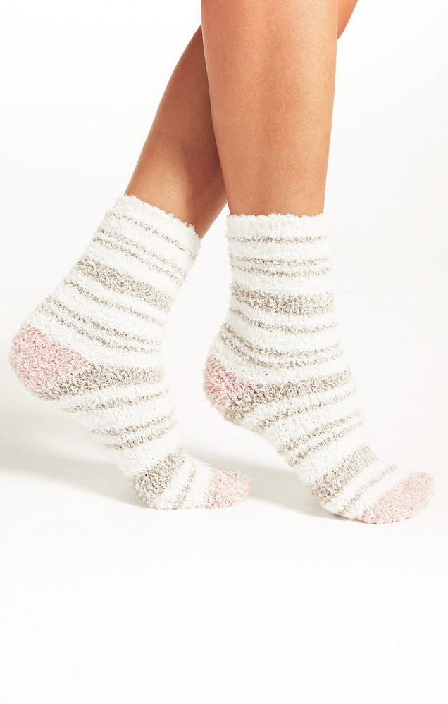 Stripe Plush Sock