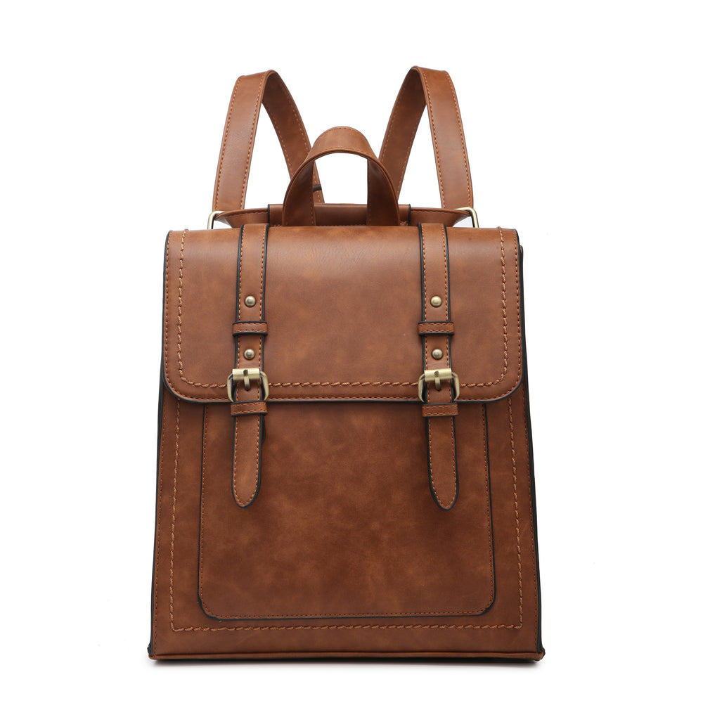 Kat Convertible Backpack- Brown