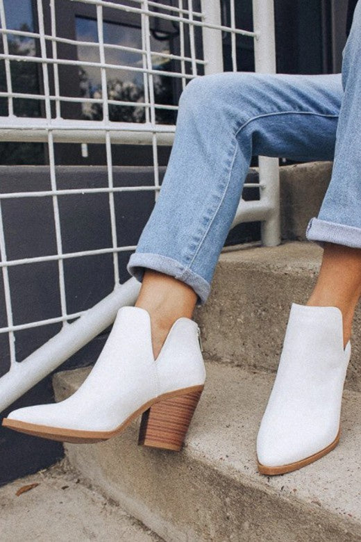 Morgan Booties- White