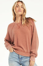 Claire Waffle Long Sleeve- Copper
