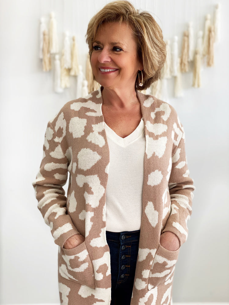 Animal Impulse Cardigan- Camel White