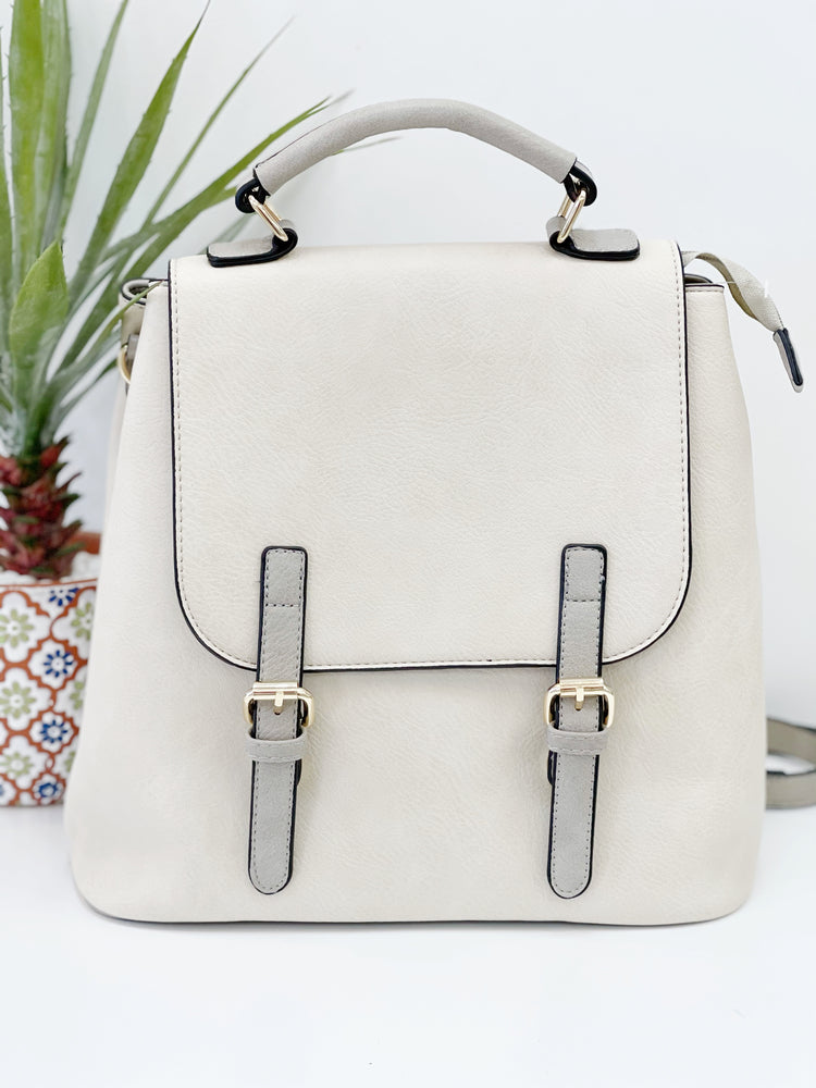 Brooks Convertible Backpack- Ivory