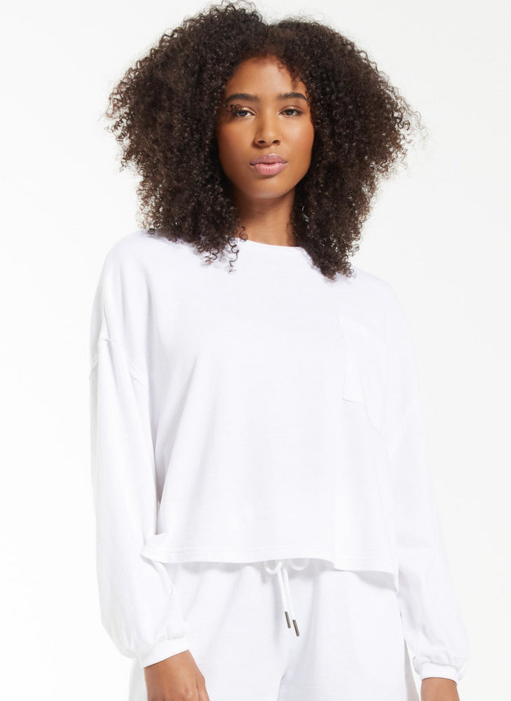 Miki Terry Long Sleeve - White