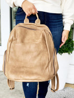 Maddie Backpack- Taupe