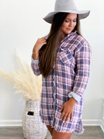 Maya Plaid Shirt Dress