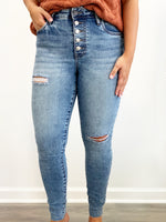Connie High Rise Ankle Skinny- Autonomous