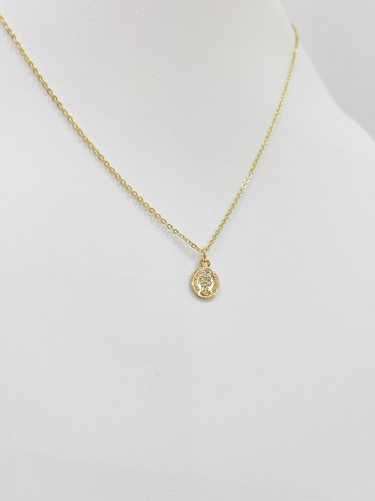 Mini Queen Coin Necklace