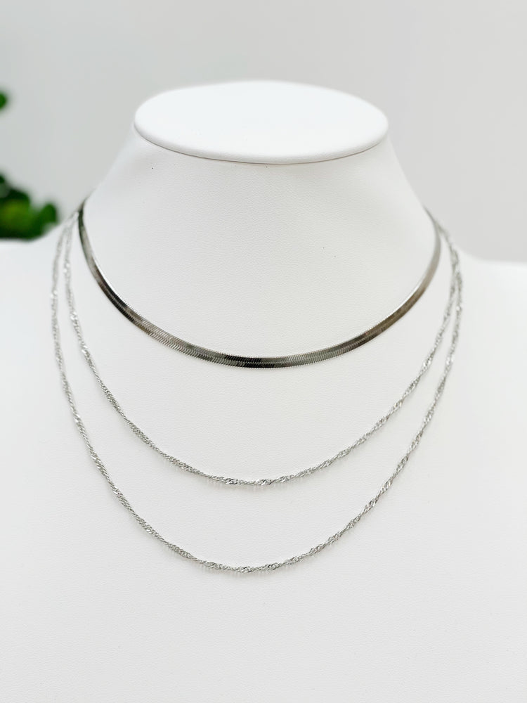 Triple Crown Necklace- Silver