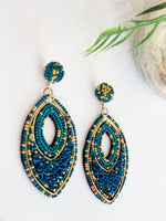 BEADED MARQUISE EARRING