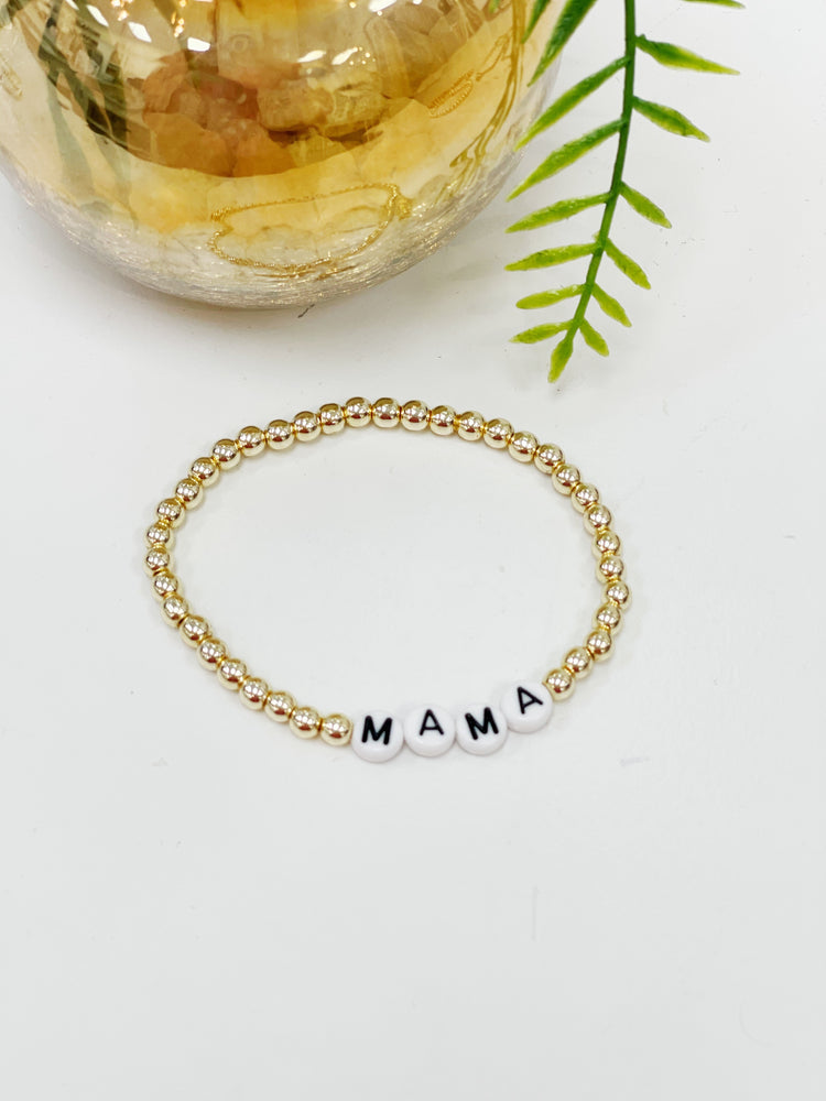 "Lana Loy ""Mama""- Gold Beads"