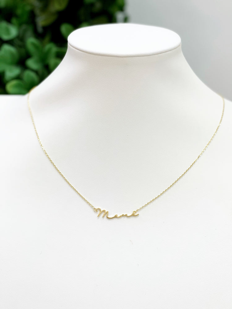 Mama Handwriting Necklace