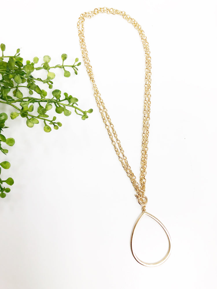 TEARDROP CHAIN NECKLACE