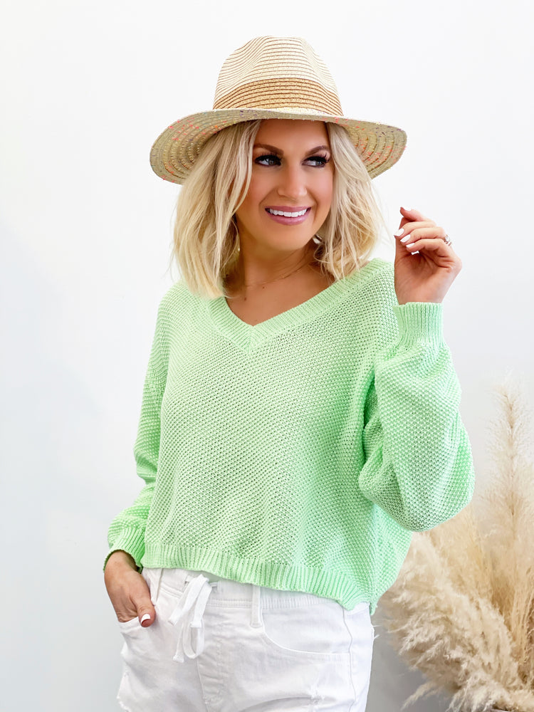 Nadia Sweater - Apple Green