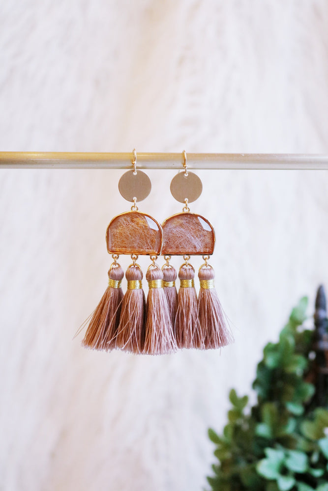 TASSEL AND TURN EARRING