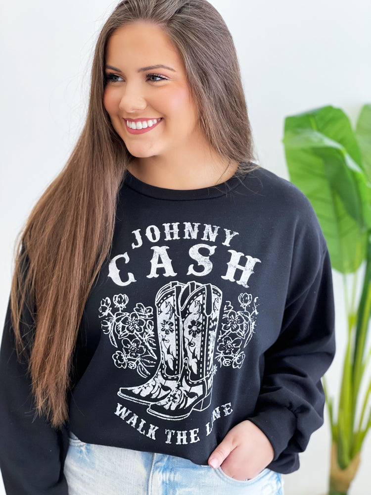 Johnny Cash Top- Black