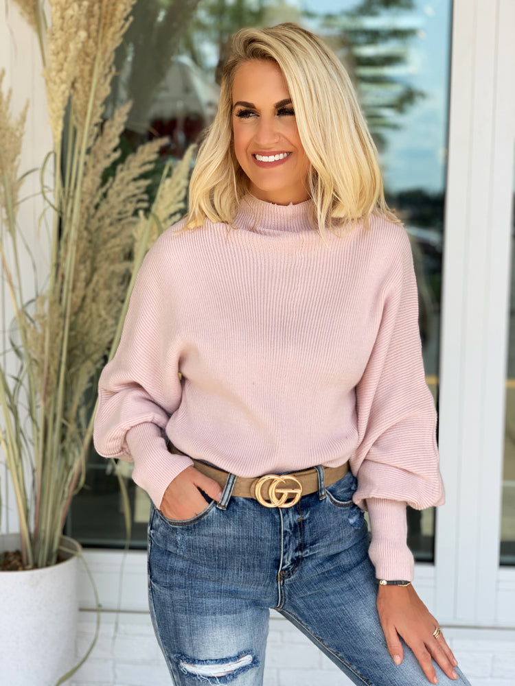 Show You Care Sweater- Blush