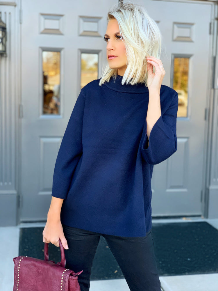 What You Want Sweater- Navy