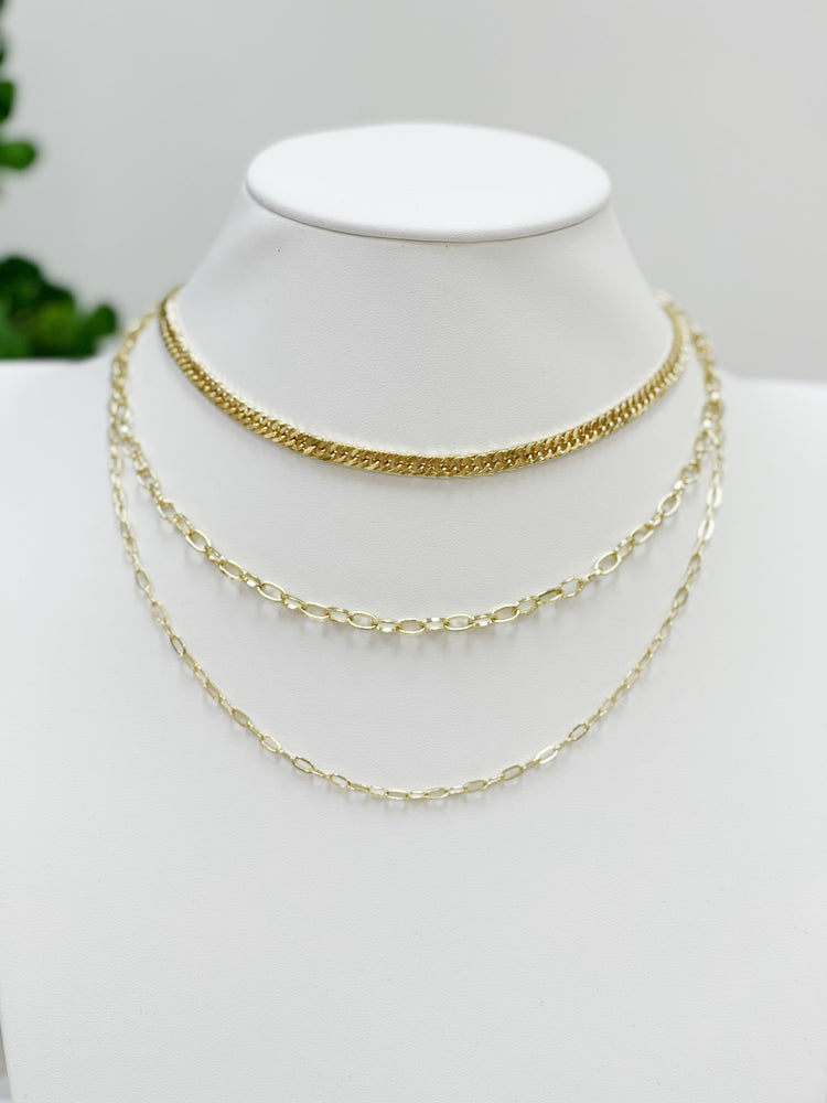 Allman Layered Chain- Gold
