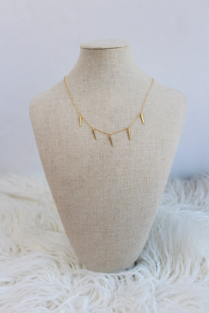 FIVE SPIKE NECKLACE