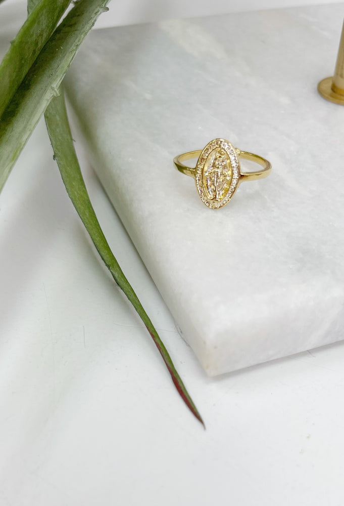 Saint Oval Ring