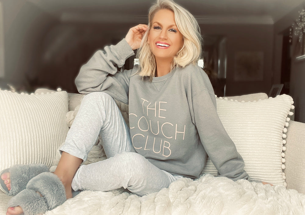 The Couch Club Sweatshirt- Sage
