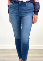 Connie High Rise Fab Ab Ankle Skinny- Done Wash
