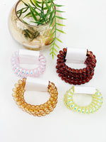 Solid Spiral Hair Tie- 3 Pack
